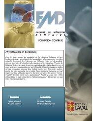 Phytothérapie en dentisterie - Faculté de médecine dentaire de l ...