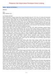 Pelepasan Hak Ulayat dalam Penetapan Hutan Lindung - SKP