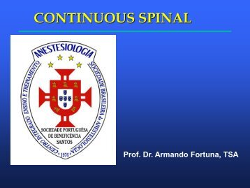 continuous spinal anesthesia