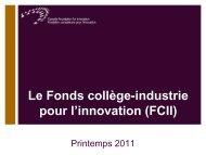 Aperçu du FCII - Diapositives de la présentation - Canada ...