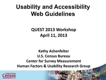 Usability and Accessibility Guidelines for Web Sites and Web ...