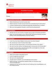 Checkliste Franchise