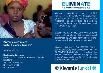 Stopp Tetanus - Kiwanis Deutschland