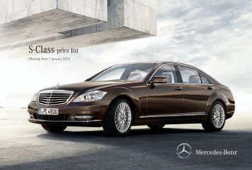 Download the S-Class price list - Mercedes-Benz UK