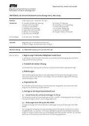 Sitzung 2/09 vom 05.05.09 - Departement Bau, Umwelt und Geomatik