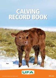 CALVING RECORD BOOK - UFA.com