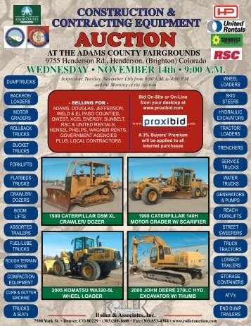 construction - Roller Auctioneers