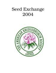 Seed Exchange 2004