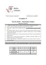 Exemplul #1 Test de selectie – Matematica si logica - ProCredit Bank