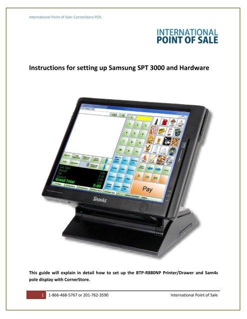 Samsung SPT 3000 Installation Instructions - Corner Store Point of