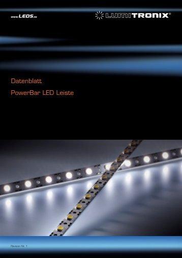 Datenblatt PowerBar LED Leiste - LEDS.de