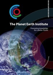 The Planet Earth Institute - International Year of Planet Earth