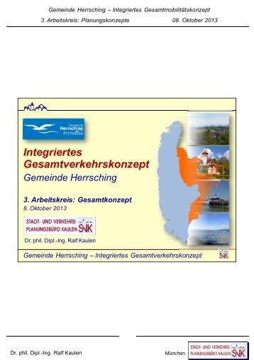 Gemeinde Herrsching – Integriertes Gesamtverkehrskonzept ...