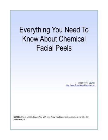 Everything You Need To Know About Chemical Facial Peels