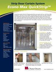 QuickStrip Strip Door Curtain System Flyer - Chase Doors