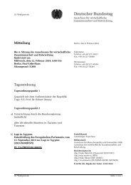 Mitteilung Tagesordnung - Deutscher Bundestag