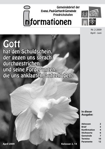 2-2009 - Paul-Gerhardt-Kirchengemeinde - Friedrichshafen