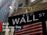 ACS Investor Day 2009 - SNL Financial