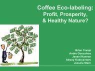 Coffee Eco-labeling: