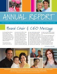 AnnuAl RepoRt - Planned Parenthood