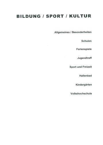 Fachbereich IV Bildung/Sport/Kultur - Delbrück