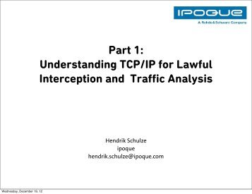 Understanding TCP/IP for Lawful Interception and Traffic ... - Ipoque