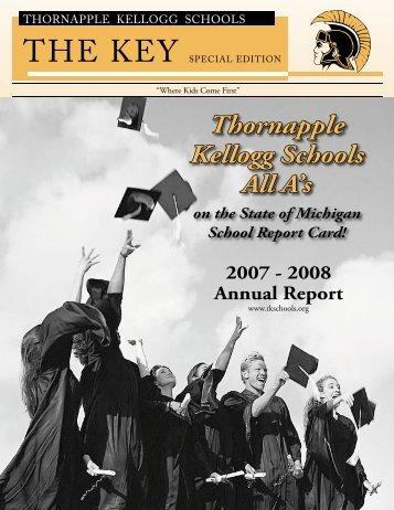 2007-08 Key Annual Report - Thornapple-Kellogg Schools