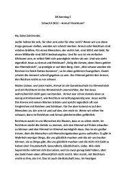 28.Sonntag C Schw/Ul 2012 – Armut? Reichtum? Na, liebe ...