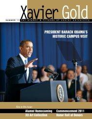 president barack obama's historic campus visit - Xavier University of ...