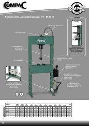 Fodbetjente værkstedspresser 16 - 25 tons - CompaC