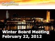 2011 - California Tourism