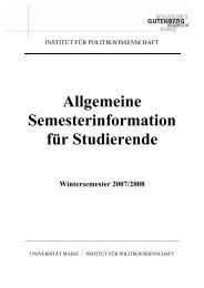 Allgemeine Semesterinformation für Studierende - Institut für ...