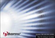 Honda CBR 600 RR (2006) Slip-On Exhaust System - Akrapovic