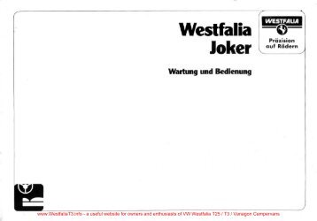 Download Westfalia Mosaik Joker Camper LG20 battery