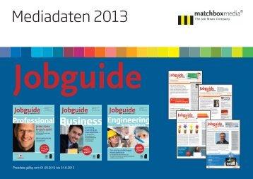 Mediadaten 2013 - Jobguide