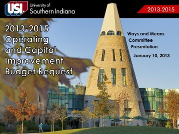 Biennial Budget Presentation - University Of Southern Indiana