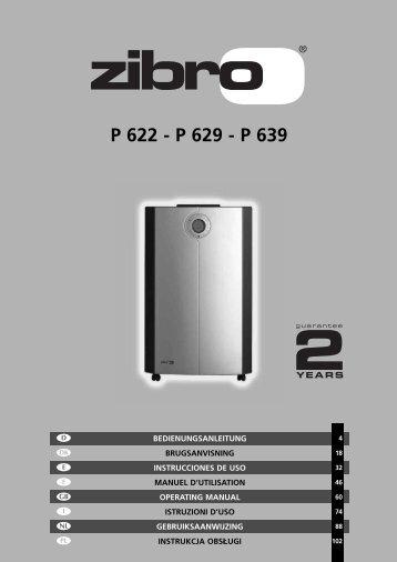 P 622 - P 629 - P 639 - Zibro