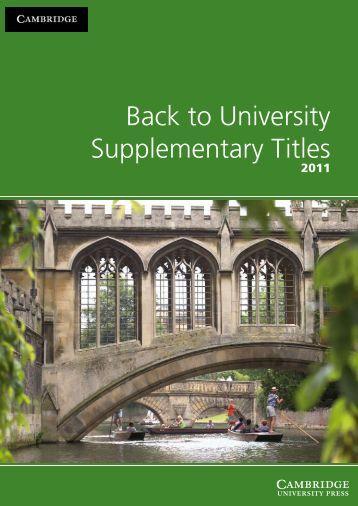 Uni 2011 Catalogue S.pdf - Cambridge University Press