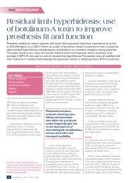 Residual limb hyperhidrosis: use of botulinum-A toxin ... - Wounds UK