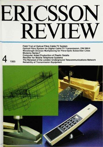 Field Trial of Optical Fibre Cable-TV System Optical Fibre System for ...