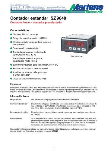 SZ9648-V1_3-00- Prospekt - Martens Elektronik GmbH