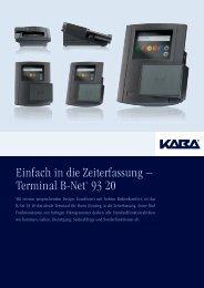 Einfach in die Zeiterfassung – Terminal B-Net® 93 20 - Kaba