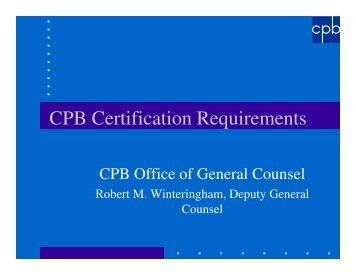 CPB Certification Requirements - NETA