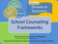 School Counseling Frameworks - United Federation of Teachers