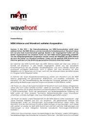 M2M Alliance und Wavefront vertiefen Kooperation