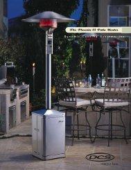 The Phoenix III Patio Heater - Custom Outdoor Kitchens