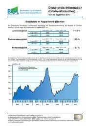 Dieselpreis-Information (Großverbraucher)