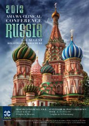 Moscow conference Tour - AMA WA