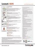 Lexmark X6570 - Wolfsteiner-EDV online - Seite 2