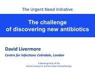 The challenge of discovering new antibiotics